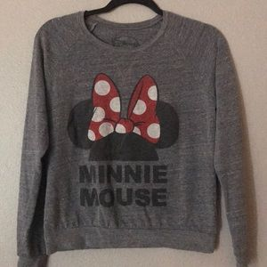 Super cute small gray vintage Minnie Raglan
